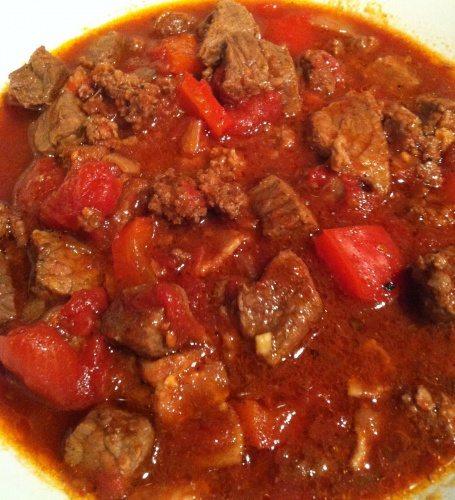 Meaty Crock Pot Chili