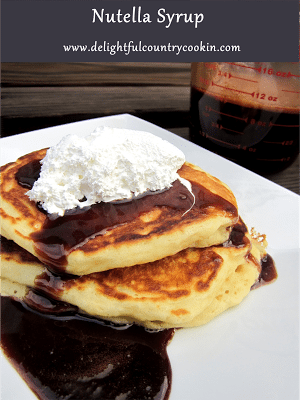 nutella syrup