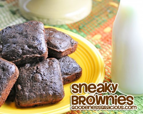 Brownies made with Spinach