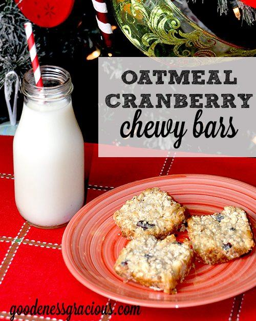 Oatmeal Cranberry Bars