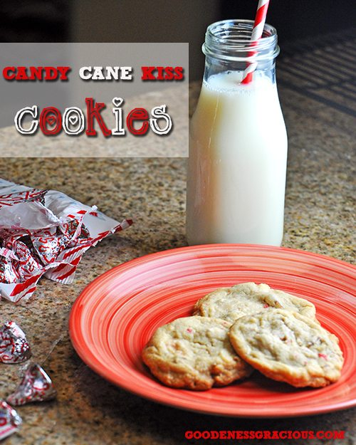 Candy Cane Kisses Cookies