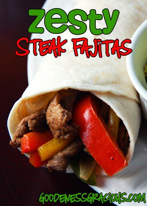 Zesty Steak Fajitas