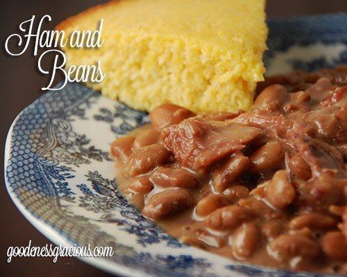 Ham and Beans crock pot recipe