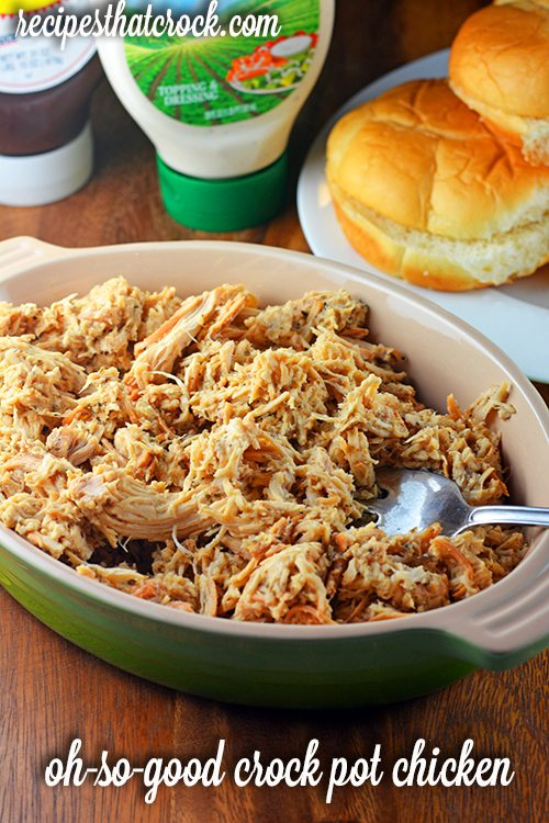 Oh so good shredded chicken