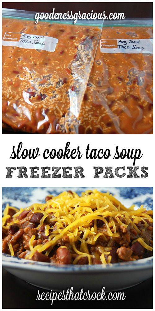 Crock Pot Freezer Packs: Taco Soup