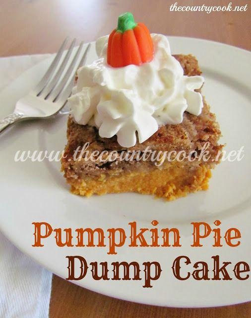 Pumpkin Pie Dump Cake