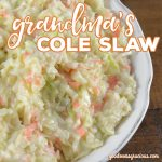 Are you looking for a creamy Homemade Cole Slaw recipe? This is grandma's tried and true recipe that everyone in the family loves.