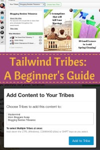 Tailwind Tribes: A Beginner's Guide - If you're new to Tailwind or haven't had a chance to try out the new Tailwind Tribes feature, this beginner's guide will get you started!
