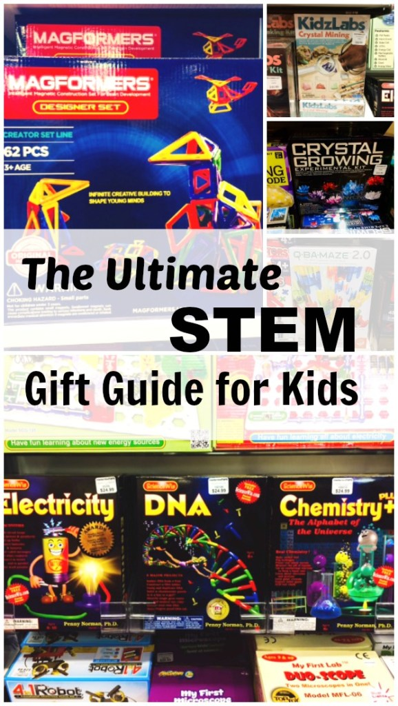 The ultimate STEM gift guide for all of the little builders in your life. A great list of educational toys for every child on your christmas list. Build. Create. Design.