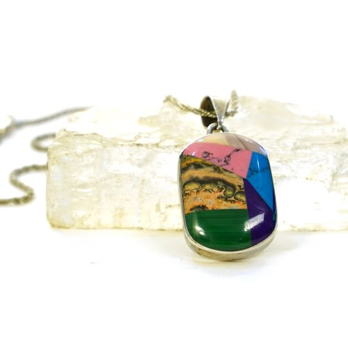 Sterling and Gemstone Necklace