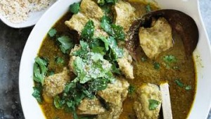 Coconut and coriander chicken curry
