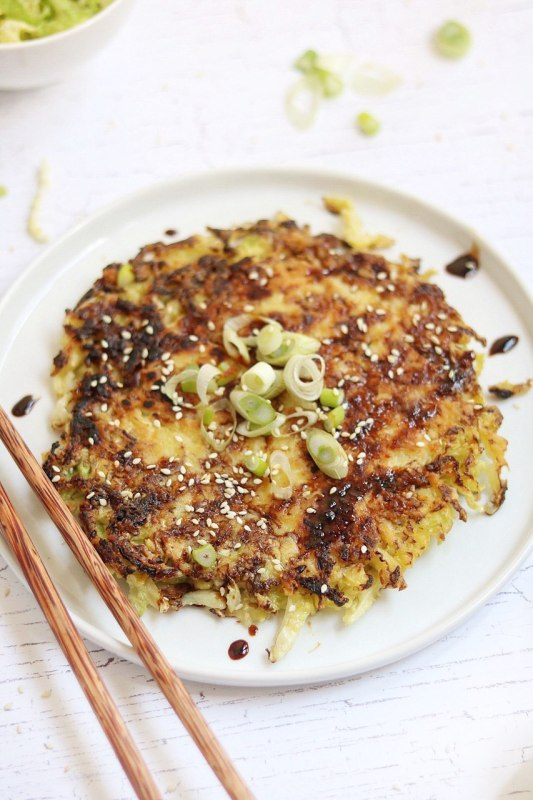 okonomiyaki vegetariana semplice e gustosa