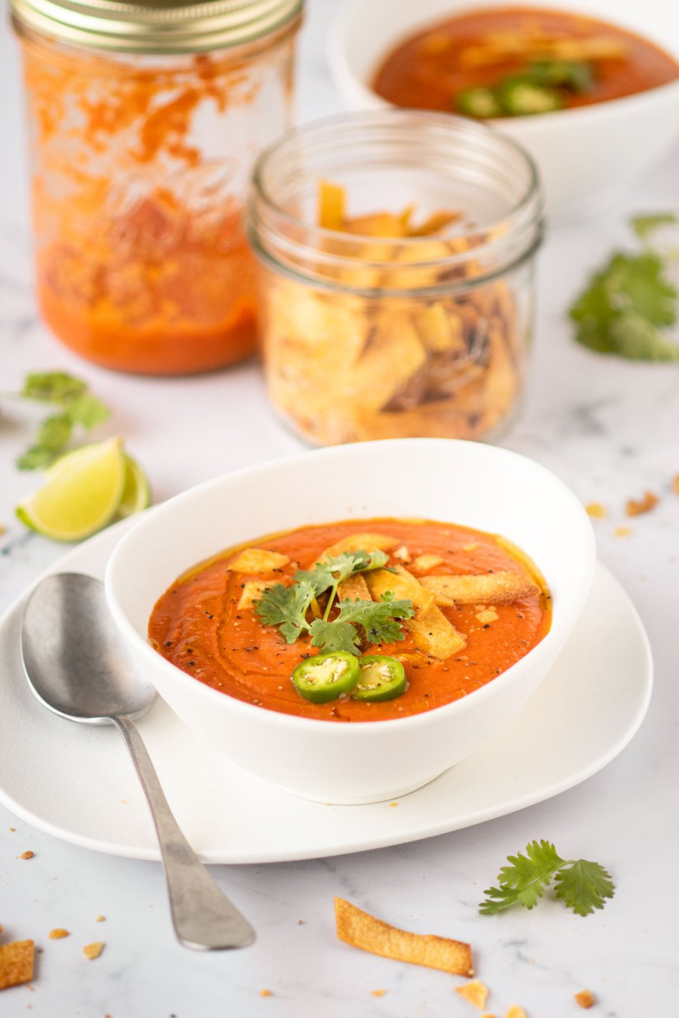 sopa de tomate Le parfait