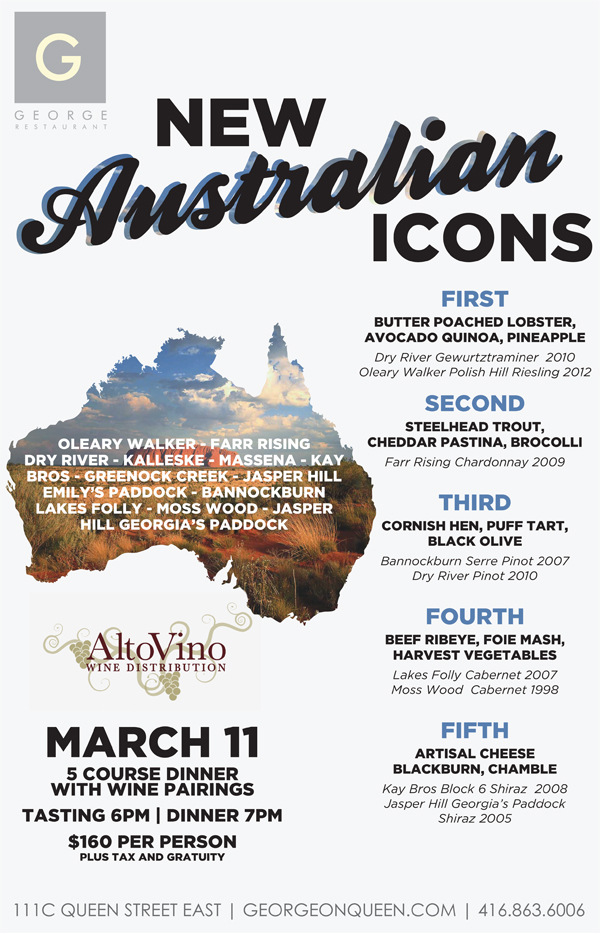 New australian icons tasting and dinner good food for Australian cuisine menu