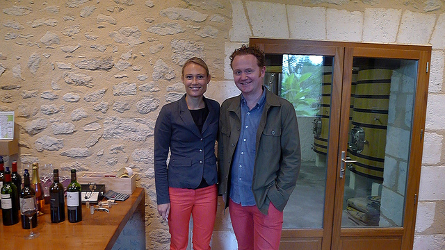 The Bergerac Red Trouser Gang: Marine Dubard and GFR's Jamie Drummond