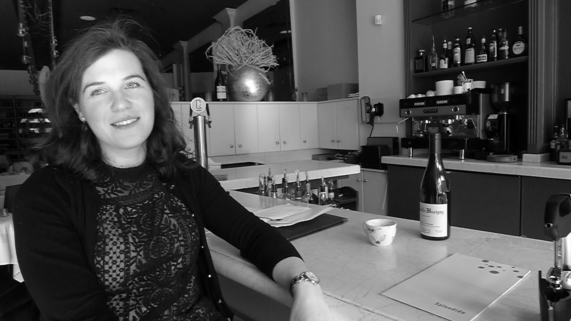 Splendido's Ellen Jakobsmeier behind the bar.