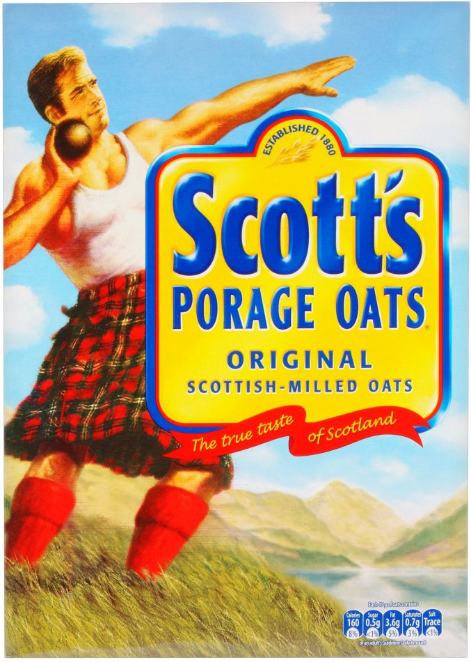 Scott's Porridge Oats... my Mum tried to get us to eat these, but I just couldn't abide them... especially when they were prepared with salt. I don't even want to say what I think they taste of like that...