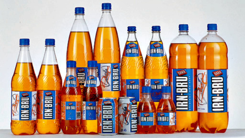 """Ahhhhh, IRN-BRU, """"made in Scotland from girders"""". Nonsense, of course."""