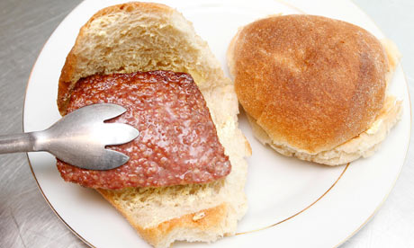 The square, or Lorne sausage is a regular sight in cafés and stores across Caledonia. Always served on a floury bap.