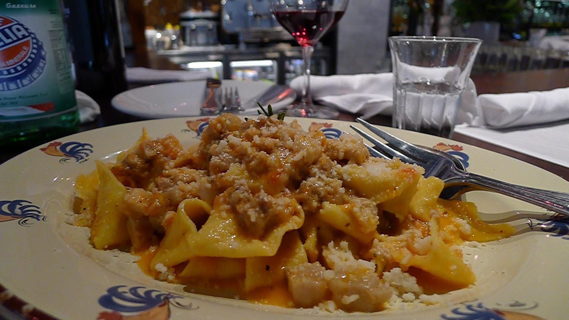 Papardelle Con Porchetta - Handmade pasta w/ slow roasted pork shoulder & Pecorino Romano