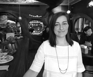 Sommelier Lexi Wolkowski surveys her domain at Bar Raval.