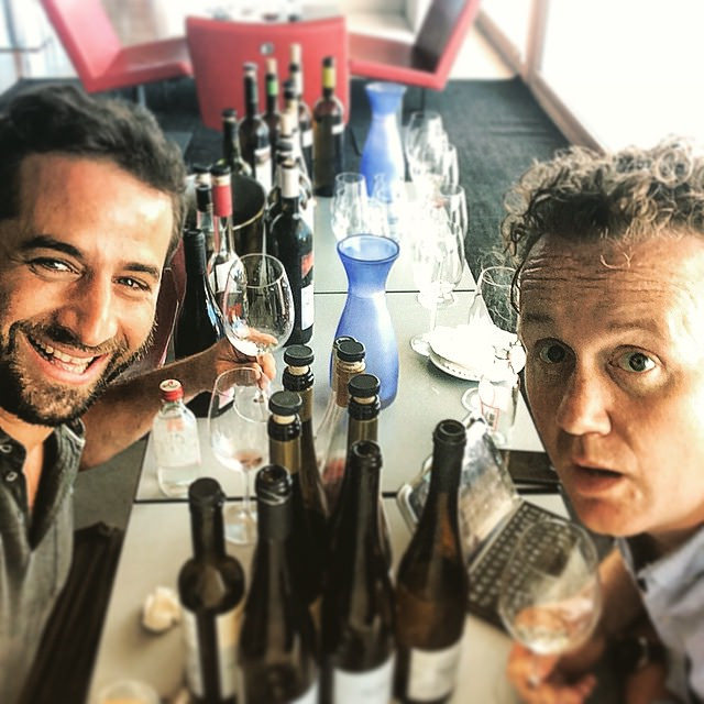 Back at basecamp tasting through a range of Azorean Wines with Antonio.
