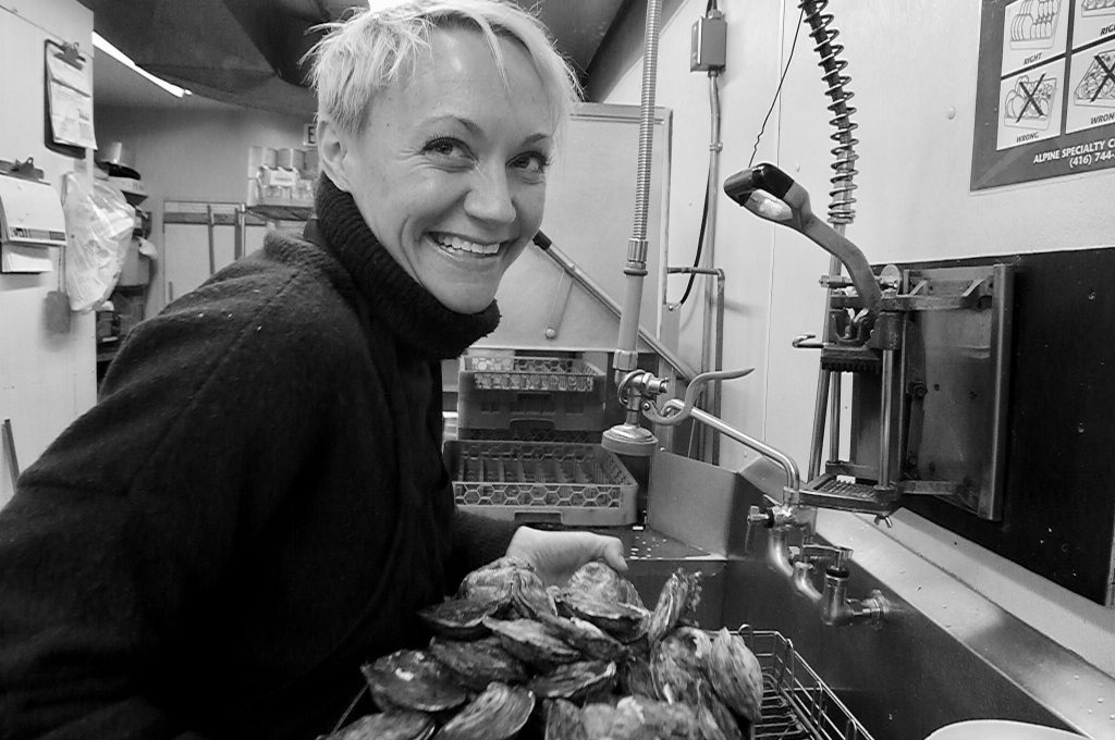 Jen Bolton, the charming lady behind the wines at Toronto's Oyster Boy.