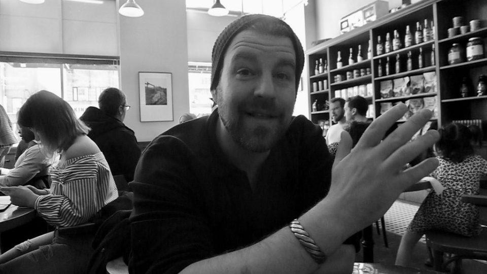 Sommelier Scott Zebarth doesn't enjoy having his pic taken too much.