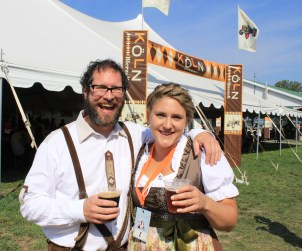 Steve and Korina at Beau's 2017 Oktoberfest. TOTALLY WUNDERBAR!