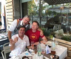 Captured here in his natural environment, the extended lunch, Olimax hosts Oyster Boy and GFR's Jamie Drummond in Barcelona in a year BC (before COVID-19)