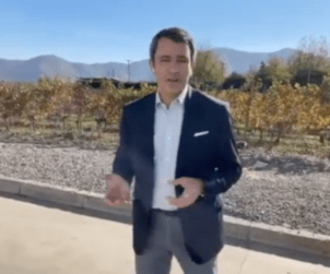Escudo Roja winemaker Emmanuel Riffaud gives us a tour of his crushpad.