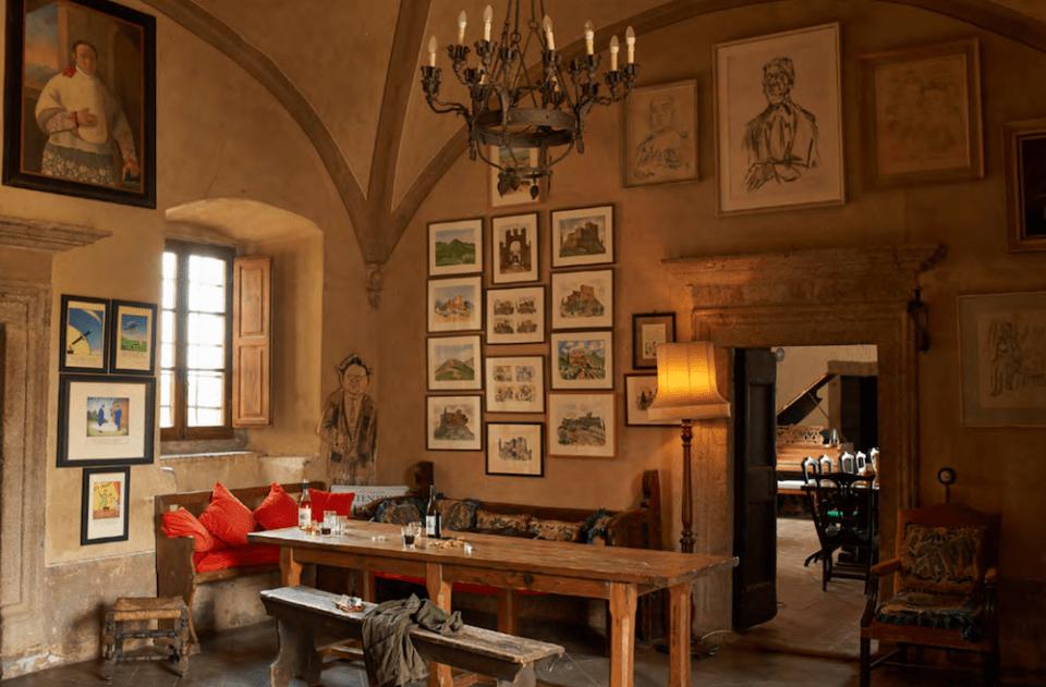 The Castello Potentino interior, as restored by Charlotte Horton.