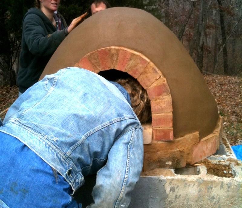 Robin building pizza oven 2011