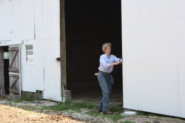 robin and barn door