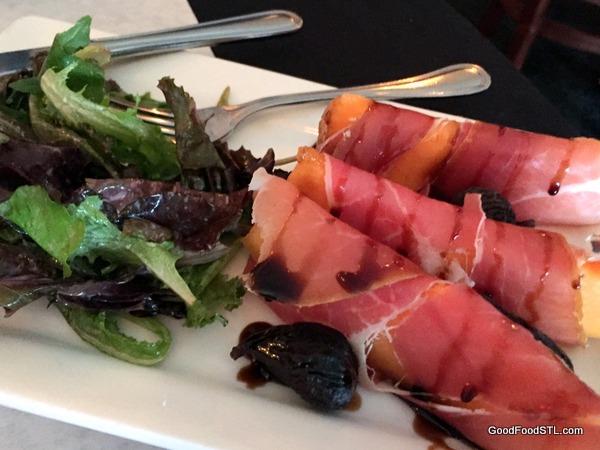 Giovanni's cantaloup prosciutto figs