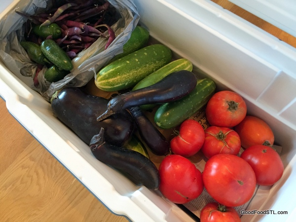 I had a cooler full of fresh food at my fingertips this weekend.