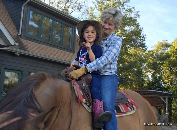 Horseback riding is relaxing for many of our farm visitors