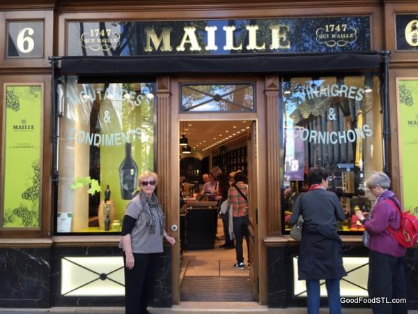 Maille mustard shop in Paris