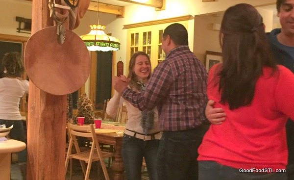salsa dancing on New Year's Eve