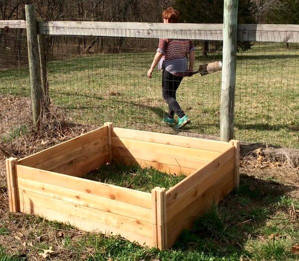 Gardening in raised boxes