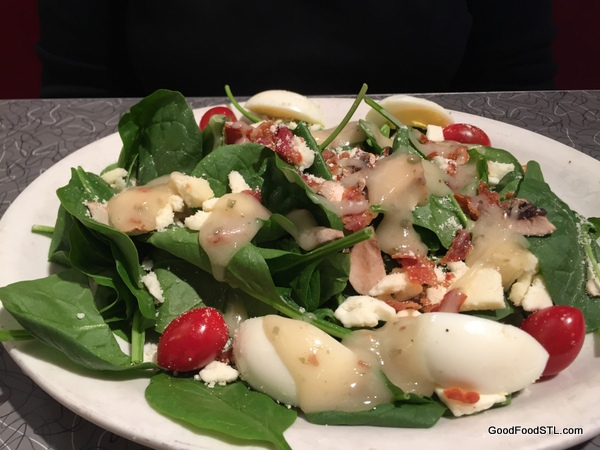 spinach salad at Cafe Manhattan