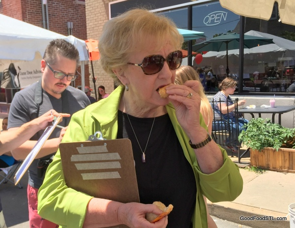 Taste of Maplewood 2016 Green Chili cheese bread *