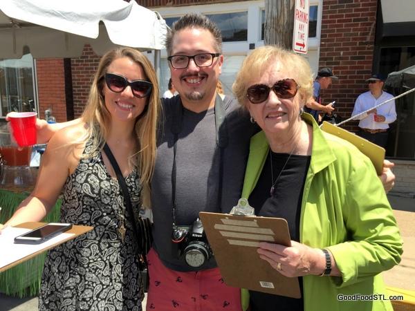 Judges Lern Colvin KSHE95; We Eat Stuff, Jean Taste of Maplewood 2016