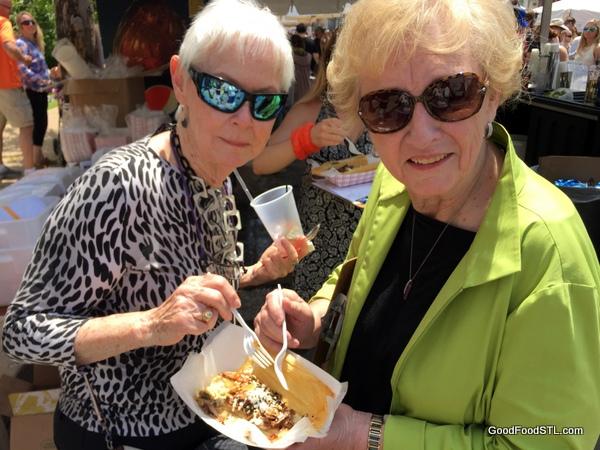 Taste of Maplewood 2016 anne Carman and Jean Las Palmas Mexican Taste Plate