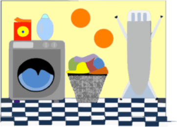 The Laundry Room Spa, a humorous essay by Jean Carnahan