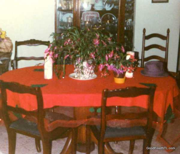 Dining room next to my mother's kitchen