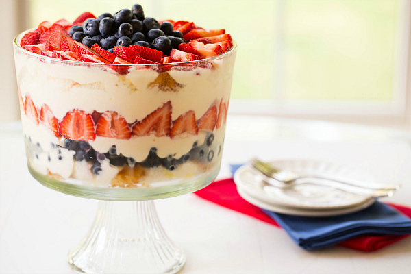 Fourth of July trifle