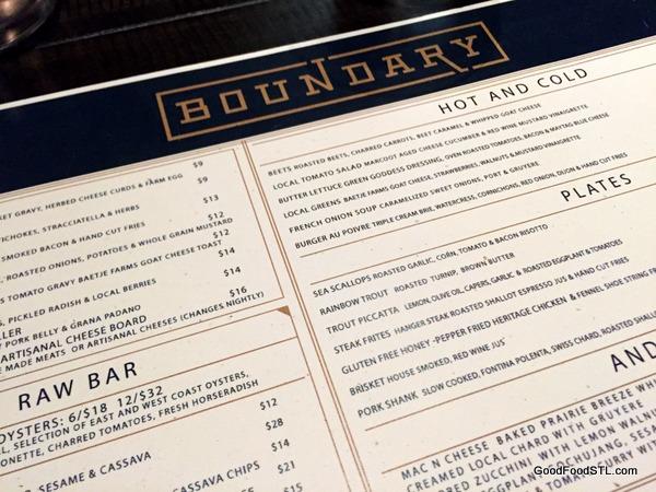 Boundry menu