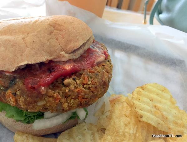 veggie burger juice & smoothie