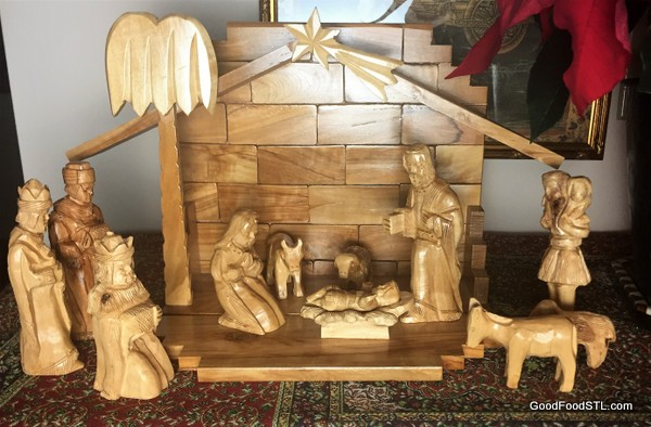 Olive wood Nativity scene from Bethlehem